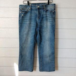 GAP High Rise Crop Jeans 31